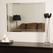 Frameless Bathroom Mirrors Decor Wonderland Frameless Tri Bevel Wall Mirror Beyond Stores