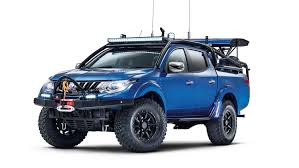 mitsubishi pickup trucks mitsubishi special vehicle projects debuts with rugged l200