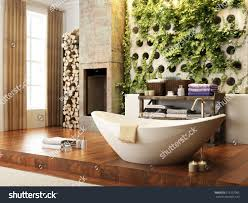 Open Bathroom Concept by Rustic Accents Open Concept Bathroom Wall Stock Illustration