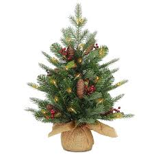 three posts 24 green spruce artificial tree with 50 led