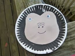 Paper Plate Monkey Craft - monkey craft paper plate the adventures of scuba
