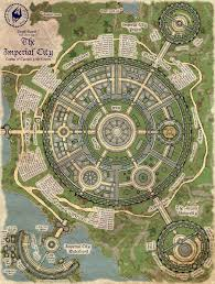 Elder Scrolls Map A Map Of The Elder Scrolls Oblivion U0027s Imperial City There Is Too