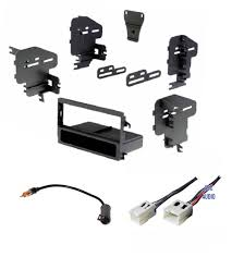 nissan altima 2005 double din car stereo dash kit wire harness and antenna adapter for