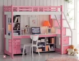 Twin Bunk Bed With Desk And Drawers Furniture Wonderful Bunk Bed With Table Underneath For Children