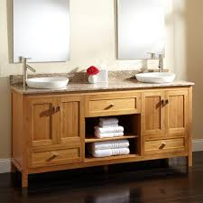Bathroom With Shelves by Bathroom Natural Wood Ikea Double Vanity With Shelves And Drawers