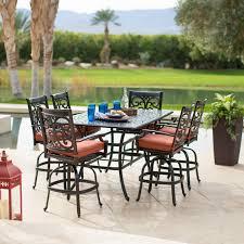 Patio Dining Set Swivel Chairs - belham living san miguel cast aluminum 7 piece patio dining set