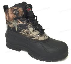 mens winter snow boots camouflage waterproof insulated hunting