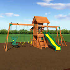 Playsets Outdoor Saratoga Wooden Swing Set Playsets Backyard Discovery