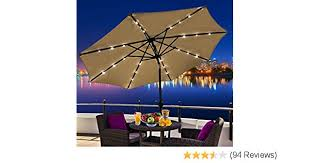 furniture how to choose a l shade strip l shade amazon com outsunny outdoor patio umbrella with tilt and solar
