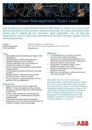 Team Lead Cv Cv Keskus Tööpakkumine Supply Chain Management Team Lead