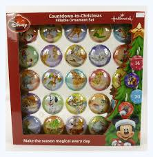 disney hallmark coundown to fillable ornament