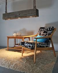 Wood Light Fixture Rustic Industrial Modern Hanging Reclaimed Wood Beam Light