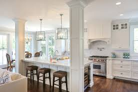 kitchen islands with columns hwc folly kitchen traditional kitchen san francisco by