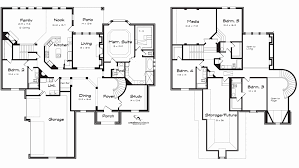 House Plans With 3 Master Suites Single Story Five Bedroom House Plans With Modern 5 Designs Custom