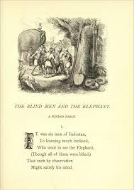Blind Man And Elephant The Blind Men And The Elephant Vivekananda Abroad A Postcard