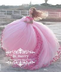 romantic 3d flowers cinderella country wedding dresses 2017 ball