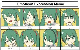 Meme Emoticon Face - hatsune miku emoticon expression meme by kiiroikat on deviantart