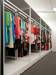 Clothing Storage by Compact Library Shelving Donnegan Systems Inc