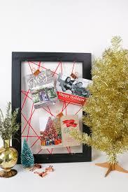 christmas card display holder make it simple easy diy christmas card display curbly