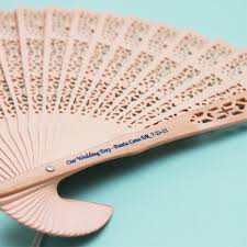 wedding fan favors personalized sandalwood fans unique personalized wedding favors