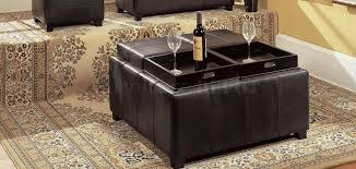 Black Storage Ottoman With Tray Storage Ottoman With Tray Dans Design Magz
