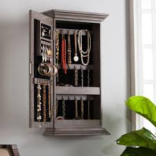 Jewelry Cabinets Wall Mounted by Wall Mounted Jewelry Storage Jewelry Boxes And Jewelry Armoires
