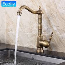solid brass kitchen faucet aliexpress buy new design solid brass bronze swivel retro