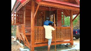building house in thailand thai teak wood and concrete youtube