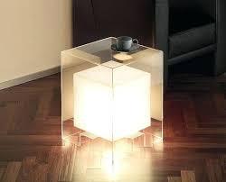 Cube Lights Side Table Bedside Table Light Wood Side Table Lights Up Lamp
