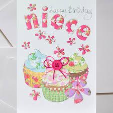 niece birthday cards niece cupcake birthday card karenza paperie