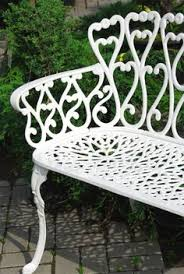 Shabby Chic Patio Furniture by Antique Vintage Semi Circle Wrought Iron Garden Patio Bench Shabby