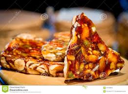 traditional delicious eastern with nuts stock photo image