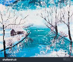 snow mountain river poster color stock photo 106092101 shutterstock