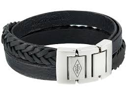 fossil black leather bracelet images Fossil leather bracelet www thehoffmans info jpeg