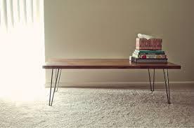 rectangular wood hairpin coffee table hairpin leg coffee table furniture design