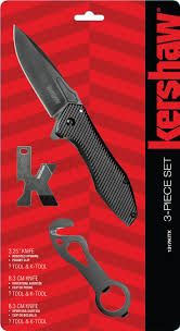 kershaw kitchen knives set kershaw 1317kitx 3 set assisted opening utility flipper k