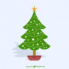 christmas tree cartoon vector free download