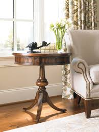 round pedestal accent table hooker furniture living room round pedestal accent table 500 50 828