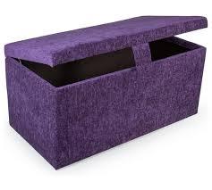 buy maurice large chenille ottoman purple at argos co uk visit