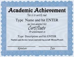 academic award certificate template education world certificate of