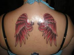 ink wings on upperback tattooshunt com