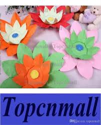wishing paper online cheap hot sell paper flower lotus wish lantern water floating