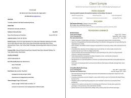 Media Resume Sample by Sample Professional Resume Revisions
