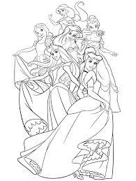 group disney princess coloring jasmine snow white