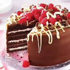 very chocolate torte with raspberry cream recipe taste of home