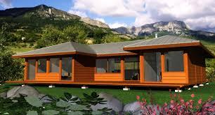 modele de terrasse couverte villa construction bois avec mobiteck maison bois massif
