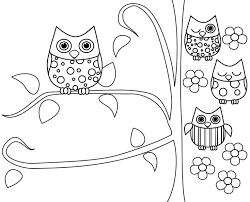 of owls coloring page free download