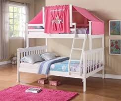 Bunk Beds Pink Mission Bunk Bed With Tent Kit In White