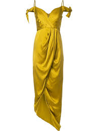 zimmermann winsome drape cocktail midi dress citrus women clothing