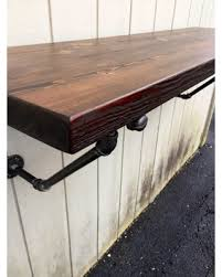 reclaimed wood wall table amazing deal the lodge mantel wall mounted bar table shelf
